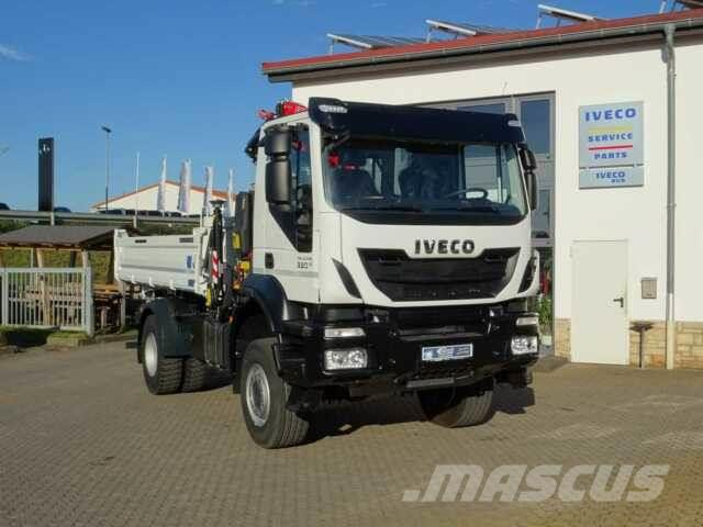 iveco ad190t33w 4x4 kipper kran fassi f120 funk. Black Bedroom Furniture Sets. Home Design Ideas