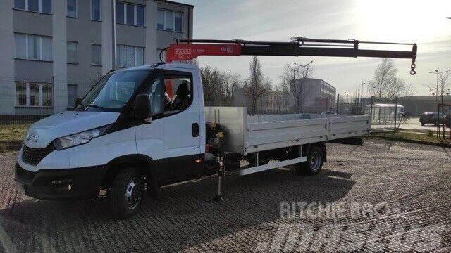 Iveco Daily 50C18 3,5 T Kran Fassi M30A13 mit Pritsche