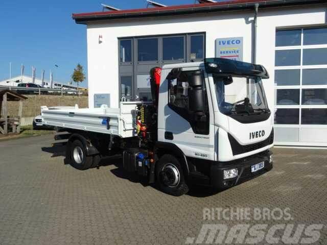 Iveco Eurocargo ML80E22 Kipper + Kran Fassi F40 +Funk