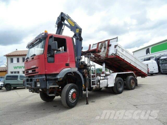 Iveco MAGIRUS 190E37W 6x4,kipper for containers,crane