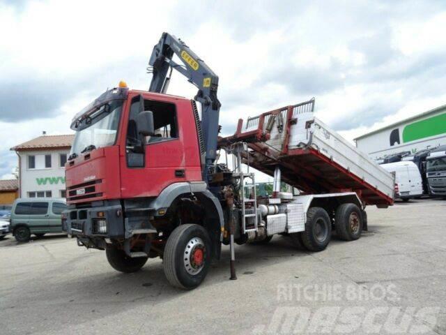 Iveco MAGIRUS 190E37W 6x4,kipper for containers,crane