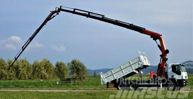 Iveco Trakker 350 KIPPER 4,90+KRAN+JIB+FUNK*6x4