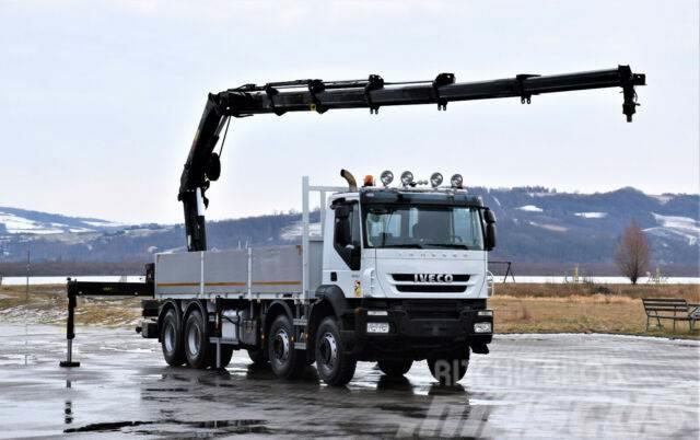 Iveco TRAKKER 410 Kipper 5,10m + HIAB 122B-2DUO + FUNK