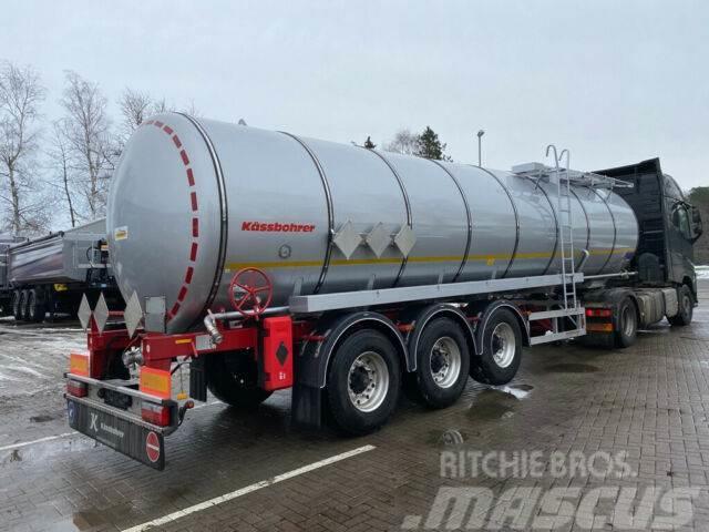 Kässbohrer Edelstahl Bitumen Tankauflieger 32m³