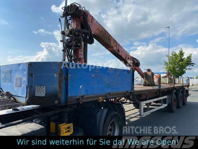 Kotschenreuther SL 270/3L Auflieger Plattform mit Kran Greifer