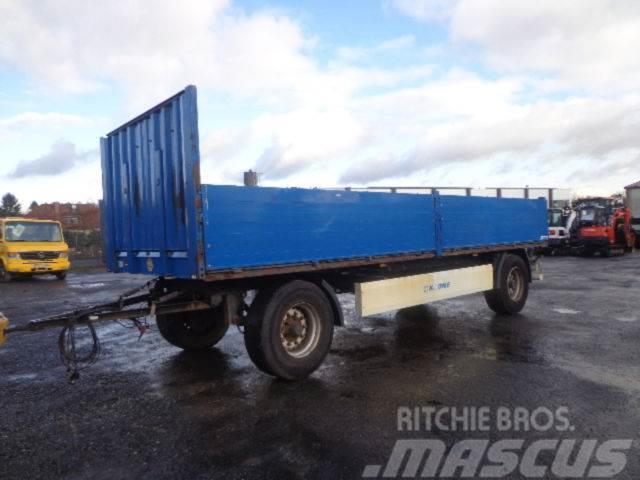 Rub Baustoffe used krone az 18 18000kg gesamt baustoff flatbed dropside trailers
