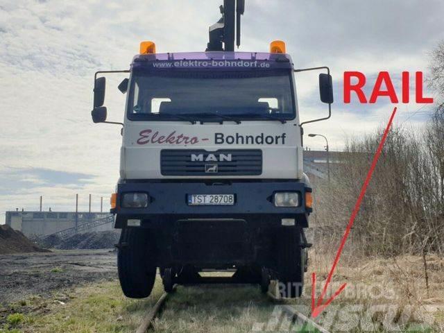 MAN 18.280 4x4 HIAB 166 Road RAIL Two way Schiene