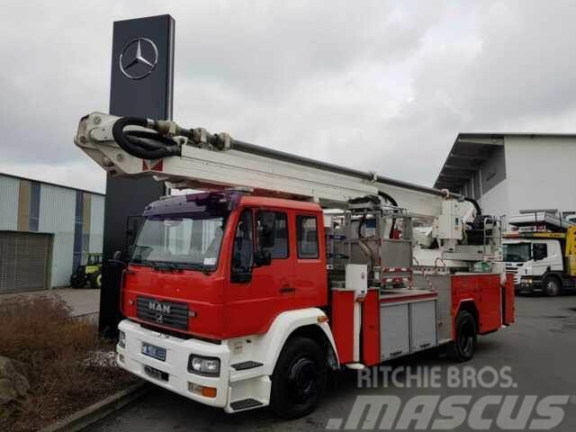 MAN 18.280 F Feuerwehr Drehleiter WUMAG WTF 320