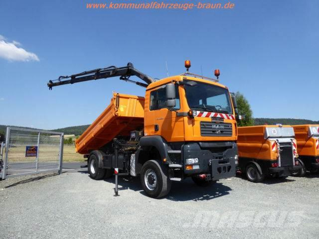 MAN TGA 18.320 4x4 Kipper Hiab Kran Winterdienst