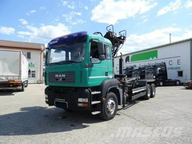 MAN TGA 26.430 for containers with crane 6x4,E3,382