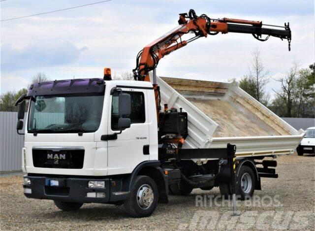 MAN TGL 12.220 Kipper 4,10m+TEREX 75.2-A2 !