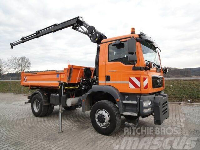 MAN TGM 18.290 4x4KipperKran/Winterdienst/62Tkm orig