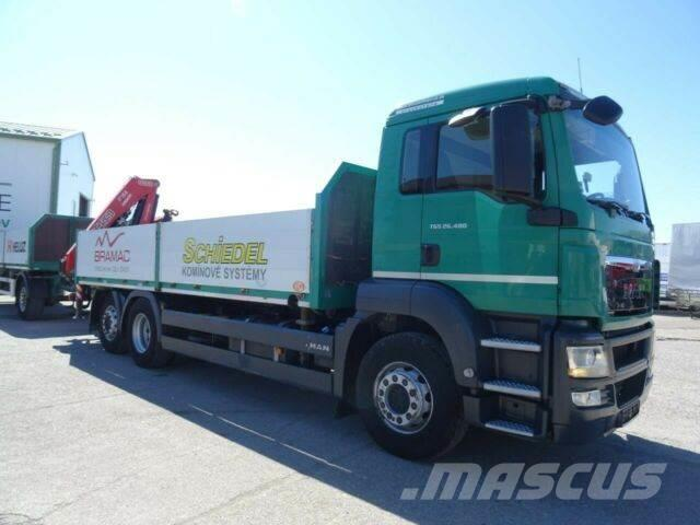 MAN TGS 26.480with crane 6x2,E5+SVAN trailer,932+063