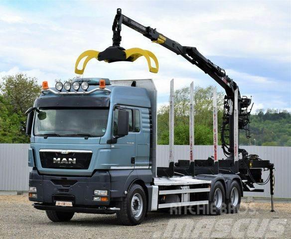 MAN TGX 26.480 Holztransporter + LOGLIFT 115Z80A/6x4