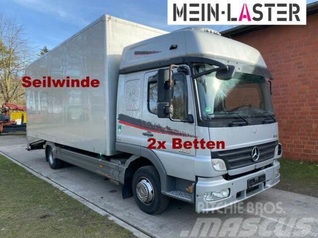 Mercedes-Benz 822L Bett geschlossener Koffer Techau Seilwinde