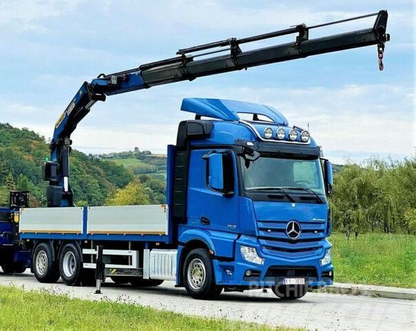 Mercedes-Benz ACTROS 2645 Pritsche 6,60m + Kran/FUNK+Anhänger!