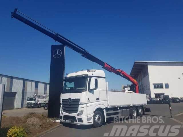 Mercedes-Benz Actros 2745 L 6x2 Baustoffpritsche + Palfinger