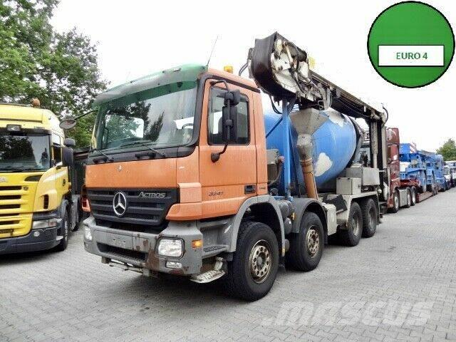 Mercedes-Benz ACTROS 3241 8X4 STETTER 9m³ + BAND THEAM 15