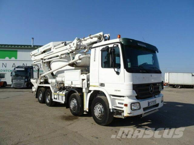 Mercedes-Benz ACTROS 3241 betonmischer+pump 7m3,8X4,612