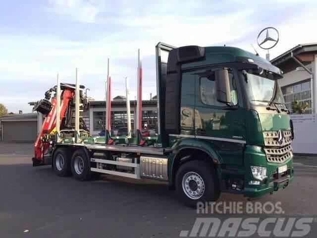 Mercedes-Benz Arocs 2651 L 6x4 + Cranab TZ12.2 + Holztransport