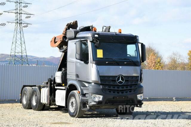 Mercedes-Benz AROCS 2851 SZM + KRAN HOLZ/SCHROTT * 6x4 !