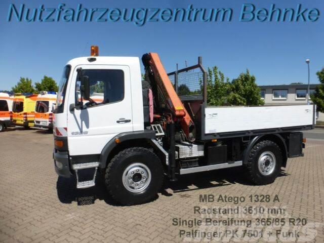 Mercedes-Benz Atego 1328 4x4 Single Bereift, Kran PK 7501+Funk