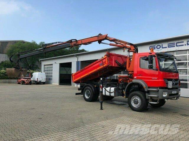 Mercedes-Benz AXOR 1829 4x4 Kipper Kran Atlas 105.2