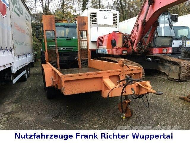 Müller-Mitteltal stabiler Baggertransportanhänger,mit Rampen