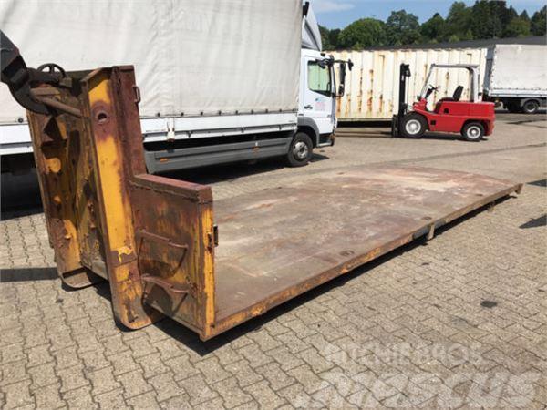 abrollcontainer ideal f r baumaschinentransporte preis. Black Bedroom Furniture Sets. Home Design Ideas