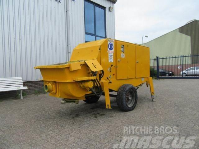 Putzmeister BSA 1005 D - Mobile concrete pump مقطورات هيكلية