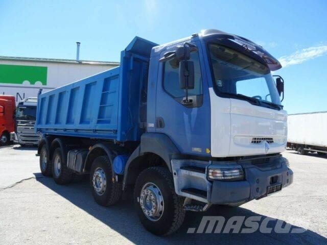 Renault KERAX 420 DCI 8x4 threesided kipper 17m3,E3, 030