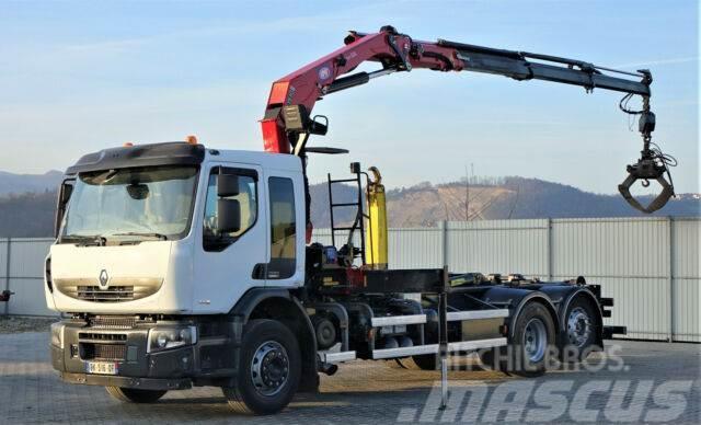 Renault Premium 430 DXI Abrollkipper+Kran/FUNK