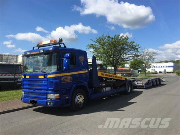 Scania 124 G 420, LKW Transporter Lohr Kompletter Zug
