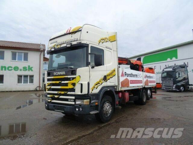 Scania 144 L 530 with crane Palfinger,E2,6x2,vin 929