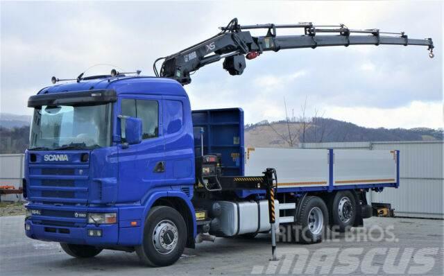 Scania 164L 580 Pritsche 6,30m +Kran /FUNK Topzustand!