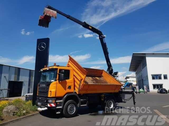Scania G 360 CB 4x4 Kipper/Kran/Greifer Hochsitz