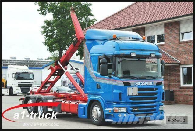 Scania G 440, Meiller Retader Lift- u. Lenkachse