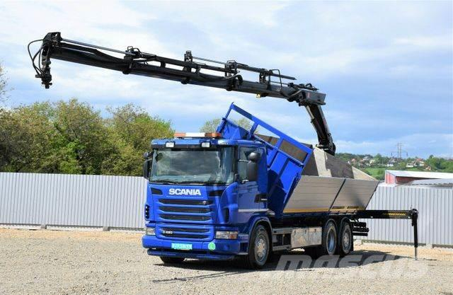 Scania G420 Kipper 6,80 m + HIAB 211EP-5HIDUO + FUNK