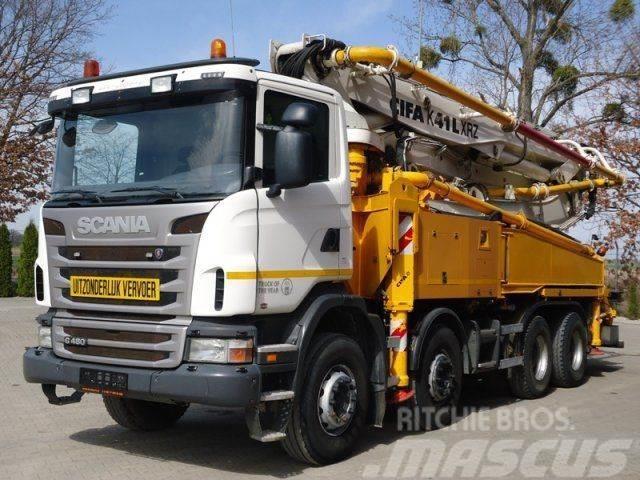 Scania G480 8x4 EURO5 Betonpumpe CIFA 41M