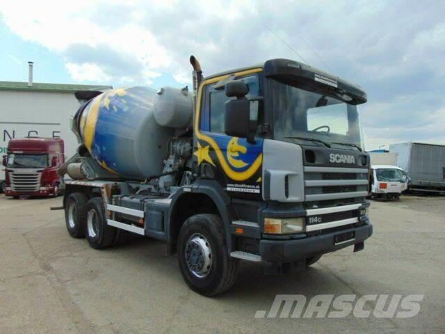 Scania P114 380 betonmixer 6x6 manual, EURO 3 vin 118