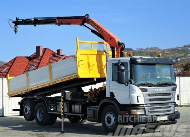 Scania P340 Kipper 6,20m +Kran*6x2*Topzustand