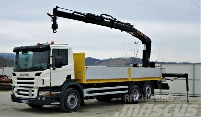 Scania P340 Pritsche 6,80m +Kran/Funk*6x4*Topzustand!