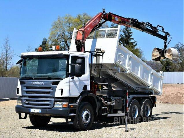 Scania P360 Kipper 5,10m + FASSI F150A.23 + Bordmatic !