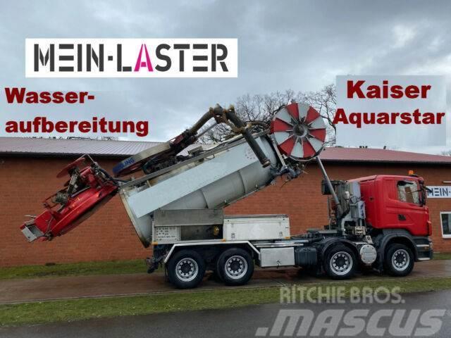 Scania R 420 8x4 Kaiser Aquastar V2A Recyling ADR