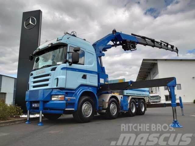 Scania R 500 8x4 Pritsche/Kran Fassi F800 + 2x Winde