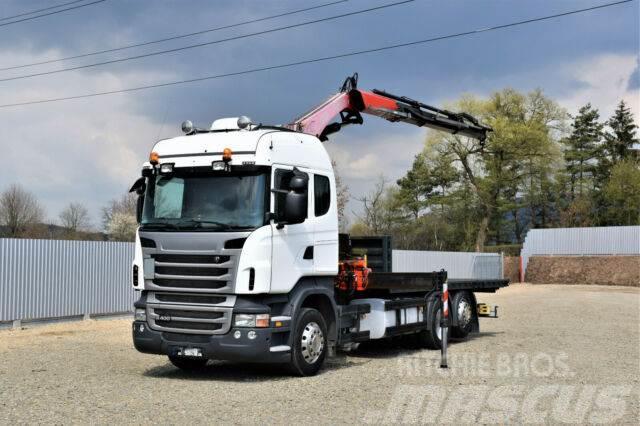 Scania R 500 Pritsche 6,30m +Kran/FUNK !