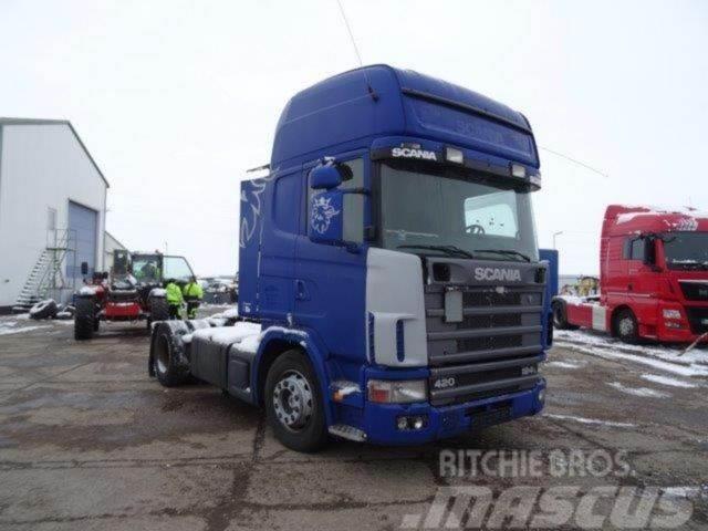 Scania R124.420,manual,retarder,NOT DRIVEABLE,E3,VIN302