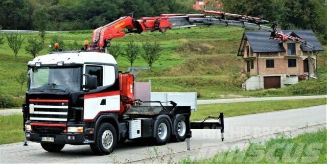 Scania R124 Pritsche 3,15m +Kran+JIB/FUNK *6x4*