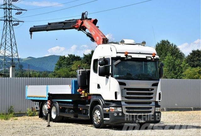 Scania R400 Pritsche 6,20m + FASSI F215.AC23/FUNK