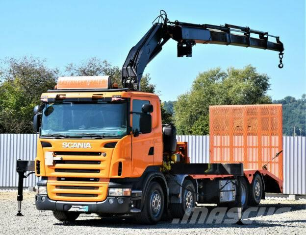 Scania R420 Abschleppwagen 7,70m + FASSI F300.24/FUNK